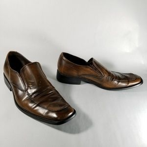Steve Madden Golden Brown Leather Slip On Shoes